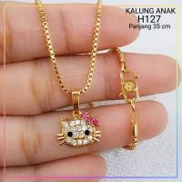 xuping/perhiasan lapis emas kalung anak hello kitty 4