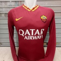JERSEY BOLA AS ROMA HOME LS LONGSLEEVE OFFICIAL 2019-2020 GRADE ORI