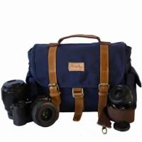FIREFLY Denver Navy Tas Messenger Kamera Vintage Klasik Warna Biru Tua
