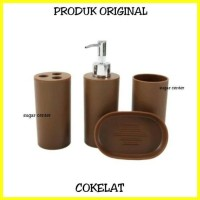 Set Peralatan Kamar Mandi Isi 4 Pcs/Bathroom Accessoris Set/Set
