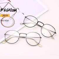 Kacamata Lensa Rangka Transparan Retro Vintage Metal Frame Eyeglasses