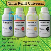 Tinta Universal 250ml Refill Cartridge Printer Canon Epson HP Brother