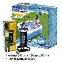 Bestway 54005 Kolam Renang Anak [201 x150 x51cm] / Kolam Anak + Pompa