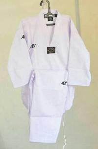 Baju Taekwondo Kerah Putih AB Champion