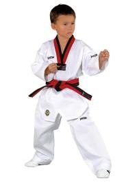 Baju Taekwondo Kerah Merah Hitam Poom Kwon Victory