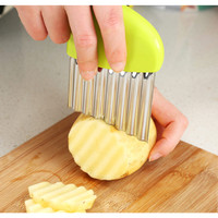 Handle Potato Carrot Wavy Cutter French Stainless Steel