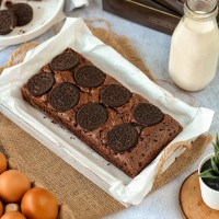 Brownies Topping Oreo   Brownies Panggang   Kue Bolu Brownis Coklat