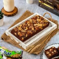 Brownies Topping Fitbar  Brownies Panggang   Kue Bolu Brownis Coklat