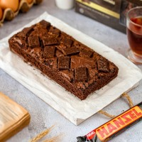 Brownies Topping Wafer Hanzel Nabati   Brownies Panggang   Kue Bolu