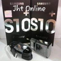 Charger Samsung S10+ S10 S10e 15W Fast Charging Type C hitam ORIGINAL