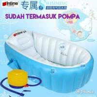 Intime baby bath tub / tempat mandi bayi plus pompa