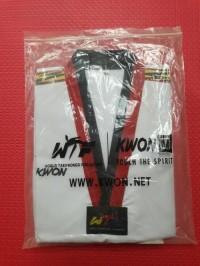Baju Taekwondo Kwon Tiger Kerah Hitam Merah