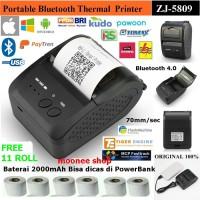(COD) Mini Mobile Printer Thermal Bluetooth Portable Zjiang 5809