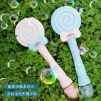 Bubble Gun Lollipop Magic Wand With Light Music (1425-2) Mainan Bubble