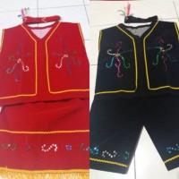 Baju dayak anak Pakaian adat dayak kalimantan SD