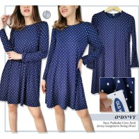 dress navy polka swing dress oldnavy