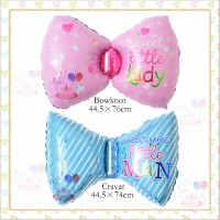Balon baby shower boy girl bentuk Pita pink biru litte girl man