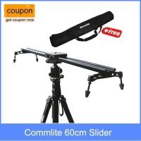 Slider 60cm Commlite Video Sistem Stabilizer untuk DSLR