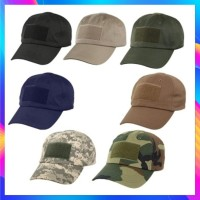 TOPI TACTICAL VELCRO / TOPI PET ARMY EMBLEM / TACTICAL HAT MILITARY