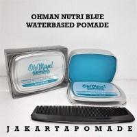 Pomade Oh Man Nutri Blue Free sisir