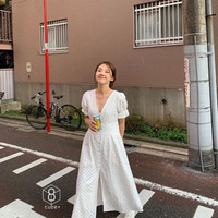 lace embro white dress