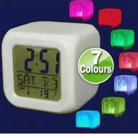 Jam Weker Kubus Alarm Moody Clock 7 Warna Digital murah awet promo
