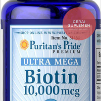 ULTRA MEGA BIOTIN 10,000 mcg - Penumbuh Rambut