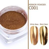 Chrome Mirror Glass Effect Powder Nail Art Gold Silver Pink Dust Shimm