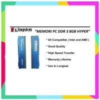 RK Ram 8 gb ddr 3 hyper memory komputer 8gb pc 12800 ddr3 kingstone