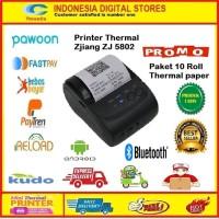 Printer thermal bluetooth Zjiang Zj 8502 plus 10 Roll thermal paper