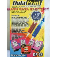 Refill Kit Tinta Suntik Data Print Colour Warna DP 28 DP28 -Printer HP