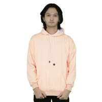 Jaket Sweater Polos Hoodie Jumper Peach - Premium Quality