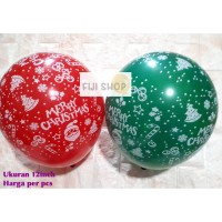 Balon Latex Merry Christmas Balon Karet Natal Latex Xmas Helium