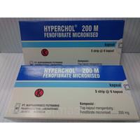 Obat Kolesterol - Hyperchol. 200 M Fenofibrate-200 Mg Strip ORIGINAL