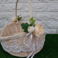 Keranjang Rotan Oval Mingle Wedding Pernikahan Party Souvenir