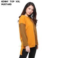 Monellina Fashion Baju Blouse Atasan XXL Jumbo Murah Wanita Kenny