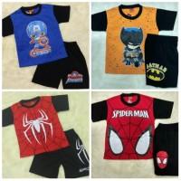 Baju Setelan Anak Laki 6-8 thn Motif Superhero