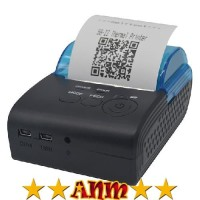 ANM Zjiang Mini Portable Bluetooth Thermal Receipt Printer - 5805-DD -