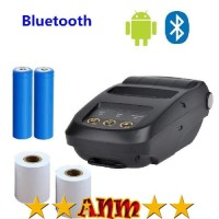 ANM NYEAR Mini Portable Bluetooth Thermal Receipt Printer + Baterai 18