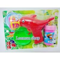 buble gun dolphin pistol gelembung sabun mainan anak balita