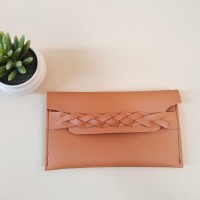 souvenir pernikahan dompet pouch kulit