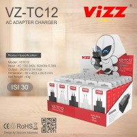 VIZZ CHARGER VZ-TC12 2.1A REAL KAPASITAS 1BOX ISI 30