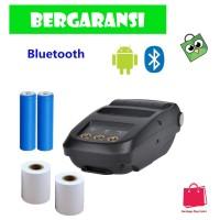 Mini Portable Bluetooth Thermal Receipt Printer + Baterai 18650 - NP10