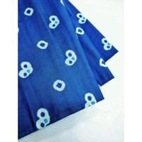 katun jumputan motif 3 biru bahan kain batik cap pekalongan kebaya