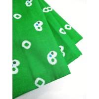 katun jumputan motif 5 hijau bahan kain batik cap pekalongan kebaya