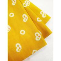 katun jumputan motif 4 kuning bahan kain batik cap pekalongan kebaya