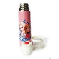 Termos Karakter + Tutup Gelas / Botol Minum Stainless 500ml - Frozen