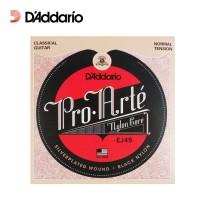 Senar Gitar Klasik D Addario Pro Arte EJ49 Black Nylon Daddario Nilon