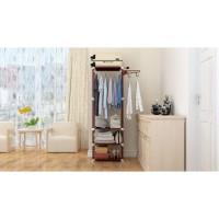 PRN11 [MH = X18] Stand hanger rak lemari pakaian serbaguna tanpa cover
