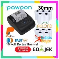 Taffware Zjiang Bluetooth Printer ZJ-5802 Kertas Thermal 10 Roll 30